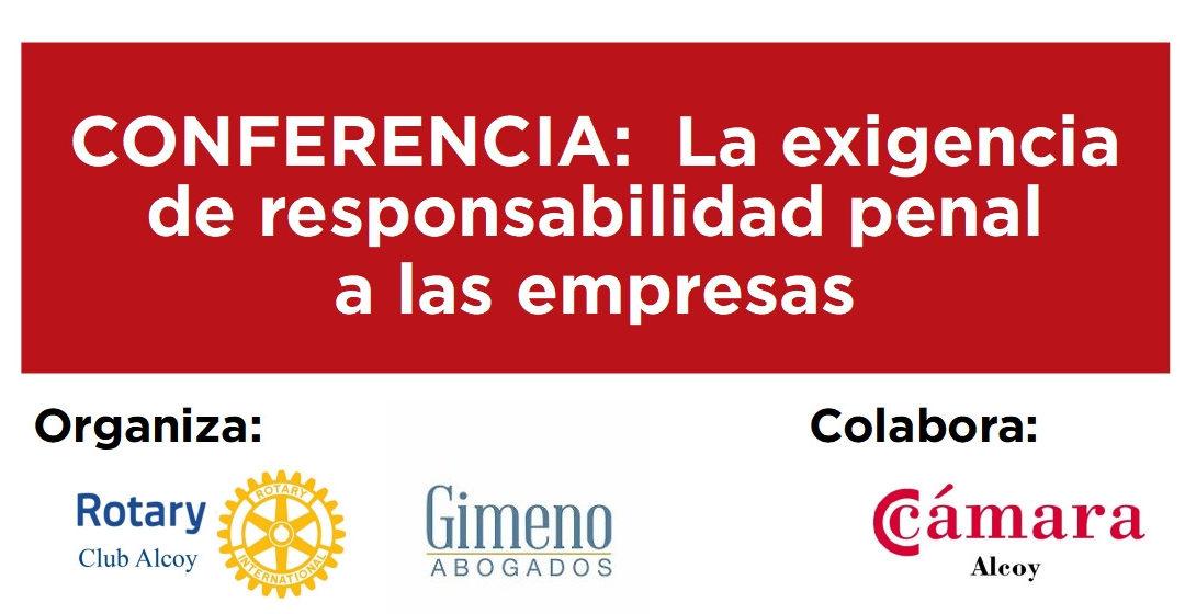 Conferencia: Responsabilidad penal de las empresas