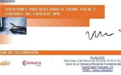 CIERRE FISCAL Y CONTABLE 2018