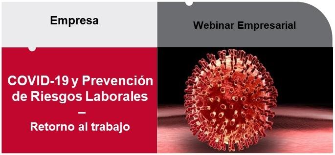 Webinar, COVID-19 y Prevención de Riesgos Laborales